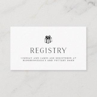 Vintage Illustrated Wedding Registry Cards