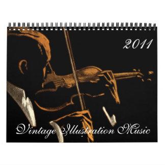 Vintage Illustration 2011 Music Calendar