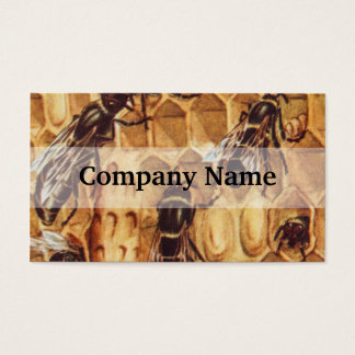 Vintage Illustration, Bees In A Hive Business Card