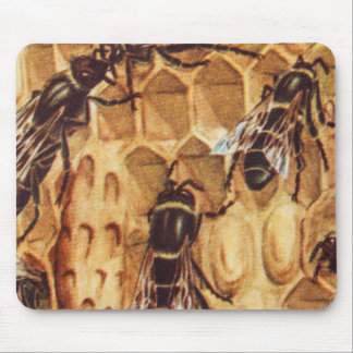 Vintage Illustration, Bees In A Hive Mouse Pad