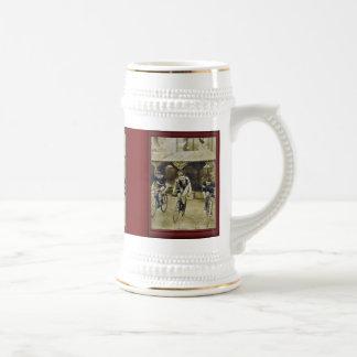 Vintage illustration -Bicyle race Mug