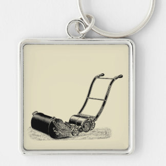 VINTAGE ILLUSTRATION British Lawn Mower Keychain