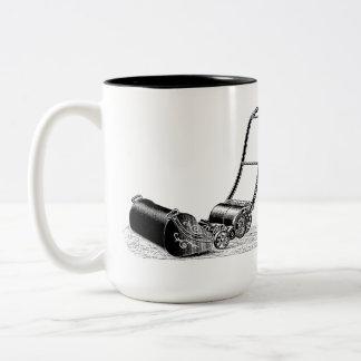 VINTAGE ILLUSTRATION British Lawn Mower Mug