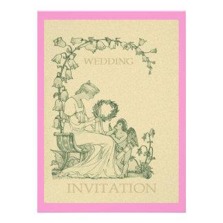 Vintage Illustration ~ Cherub And Lady Announcements
