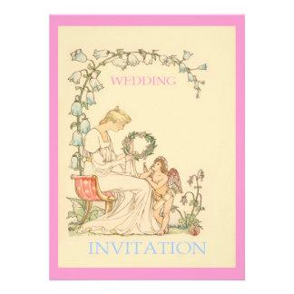 Vintage Illustration ~ Cherub And Lady Announcement