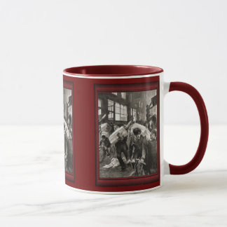 Vintage illustration -delivering the goods mug