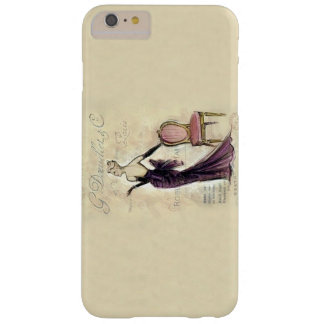 Vintage Illustration French Fashion Female Model Barely There iPhone 6 Plus Case