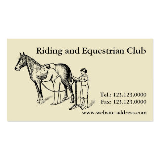 Vintage Illustration Horse Clipping Business cards