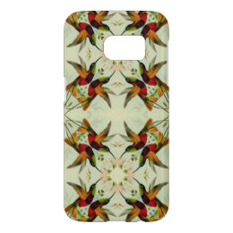 Vintage Illustration Hummingbirds and Flowers Samsung Galaxy S7 Case