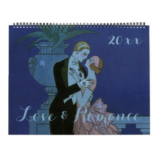 Vintage Illustration Love and Romance Calendar