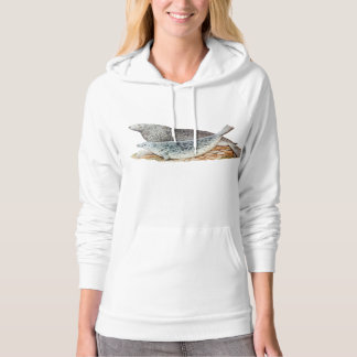 Vintage Illustration Mother and Baby Seal Hoodie