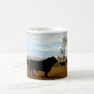 Vintage illustration of a Angus cattle Coffee Mug