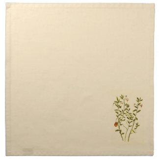 Vintage Illustration of a Cranberry Plant Napkin