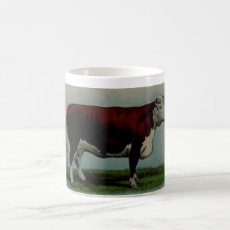 Vintage illustration of a Hereford cow Coffee Mug