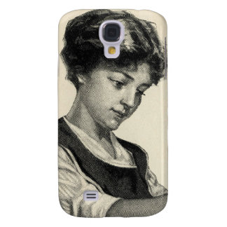 Vintage illustration of a lady baking galaxy s4 cover