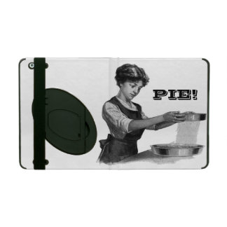Vintage illustration of a lady baking iPad cover