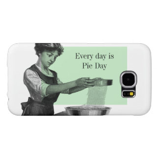 Vintage illustration of a lady baking samsung galaxy s6 case