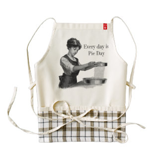 Vintage illustration of a lady baking zazzle HEART apron