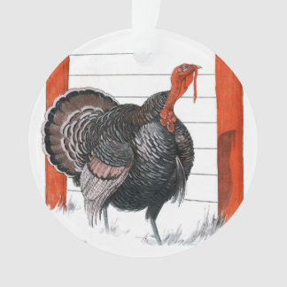 Vintage illustration of a Thanksgiving Turkey Ornament