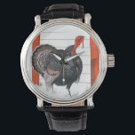 """Vintage Illustration of A Thanksgiving Turkey Wristwatch<br><div class=""""desc"""">This is a vintage illustration of a Thanksgiving turkey.</div>"""