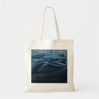 Vintage Illustration Of A Whale, Blue Graphic Tote Bag