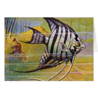 Vintage Illustration Of An Angelfish Card