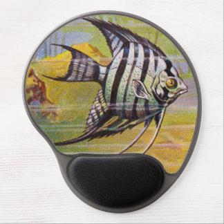 Vintage Illustration Of An Angelfish Gel Mousepad