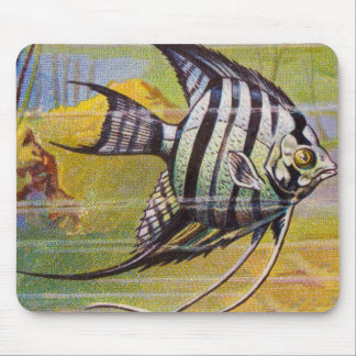 Vintage Illustration Of An Angelfish Mouse Pad
