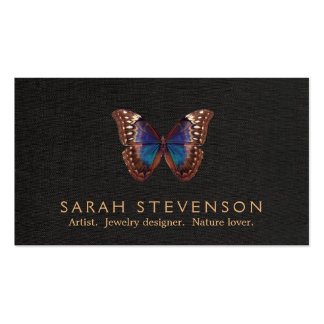 Vintage Illustration of Butterfly Wing Jewelers Business Card