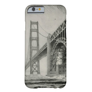 Vintage Illustration of Golden Gate Bridge Barely There iPhone 6 Case