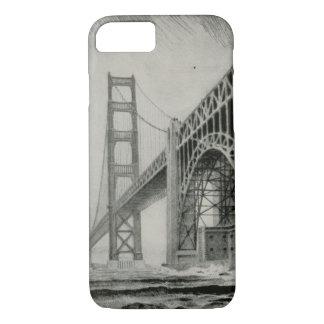 Vintage Illustration of Golden Gate Bridge iPhone 7 Case