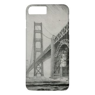 Vintage Illustration of Golden Gate Bridge iPhone 7 Plus Case
