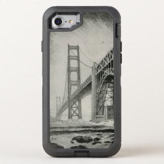 Vintage Illustration of Golden Gate Bridge OtterBox Defender iPhone 7 Case