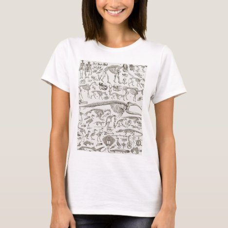 Vintage Illustration of Human & Animal Bones T-Shirt