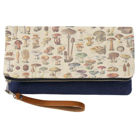 Vintage illustration of mushrooms clutch