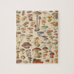 """Vintage illustration of mushrooms jigsaw puzzle<br><div class=""""desc"""">A plate from Larousse Universel,  a French illustrated encyclopedia published in 1922 from the original work of Pierre Larousse (October 23,  1817 – January 3,  1875).</div>"""