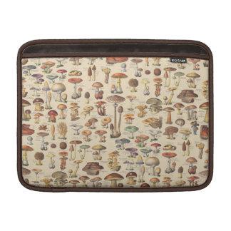 Vintage illustration of mushrooms sleeves for MacBook air