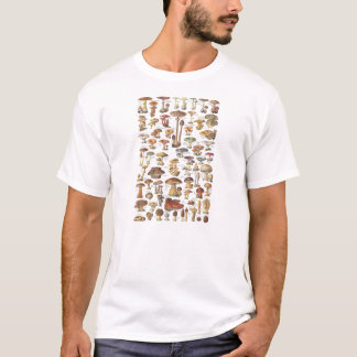 Vintage illustration of mushrooms T-Shirt