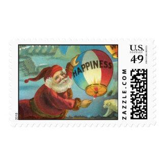 Vintage Illustration of Santa Stamp