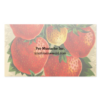 Vintage Illustration of the Jessie Strawberry Double-Sided Standard Business Cards (Pack Of 100)
