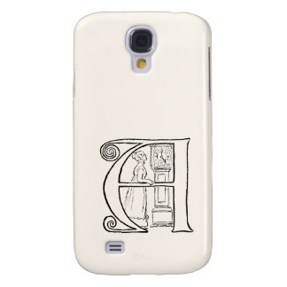 Vintage Illustration of the Letter A Samsung Galaxy S4 Cover