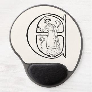 Vintage Illustration of the Letter E Gel Mouse Pad