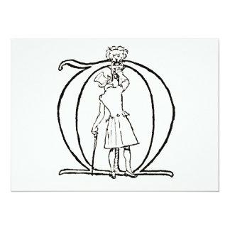 Vintage Illustration of the Letter M Card