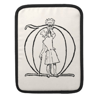 Vintage Illustration of the Letter M iPad Sleeves