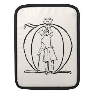 Vintage Illustration of the Letter M iPad Sleeves