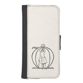 Vintage Illustration of the Letter M iPhone 5 Wallet Case