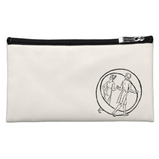 Vintage Illustration of the Letter O Cosmetic Bags