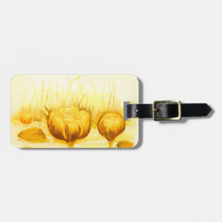 Vintage Illustration of Yellow Pond Lilies Bag Tag