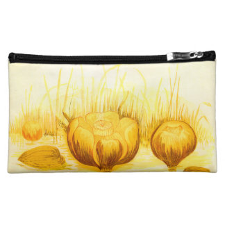 Vintage Illustration of Yellow Pond Lilies Cosmetic Bag