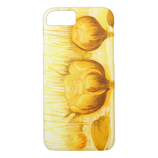 Vintage Illustration of Yellow Pond Lilies iPhone 7 Case